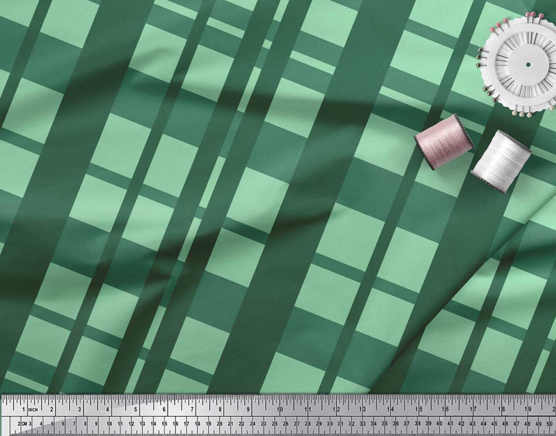 Soimoi-Cotton-Poplin-Fabric-Check-Check-Print-Sewing-Fabric-metre-AhK thumbnail 4