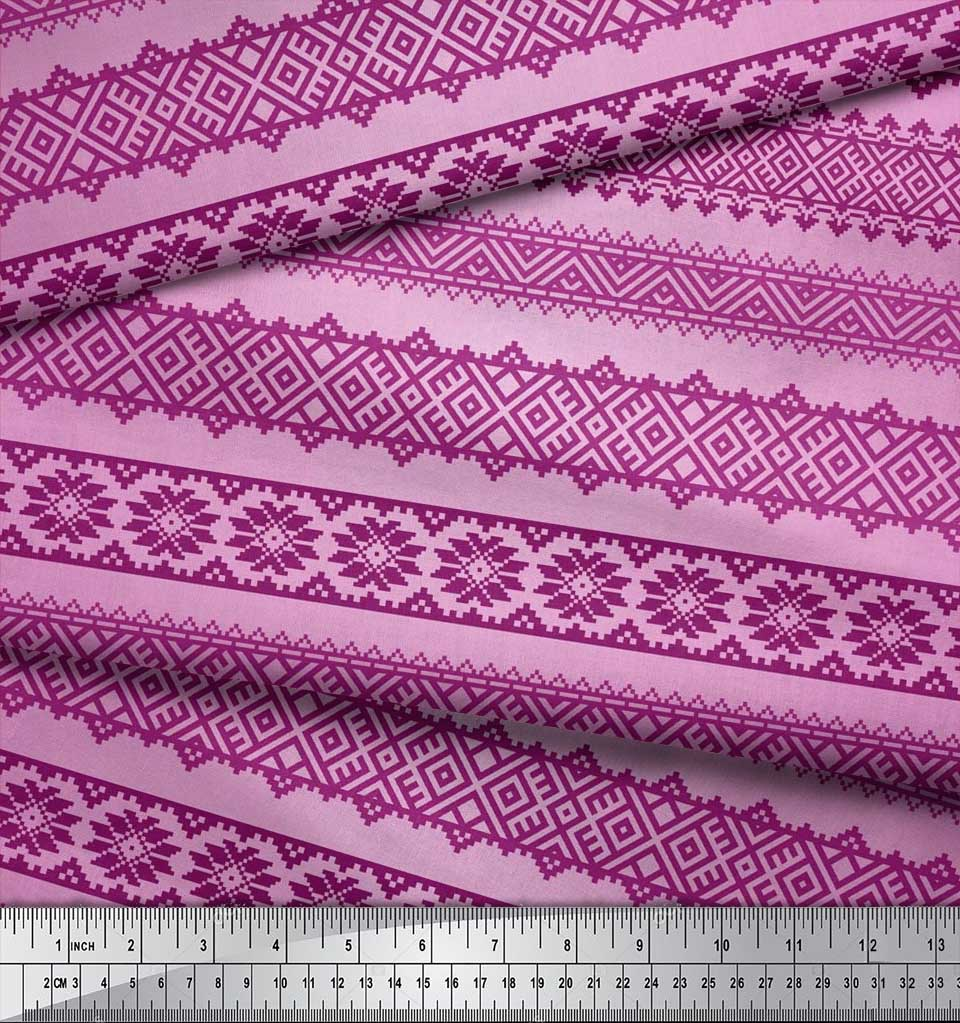 Soimoi-Cotton-Poplin-Fabric-Aztec-Geometric-Printed-Craft-Fabric-JWe thumbnail 3