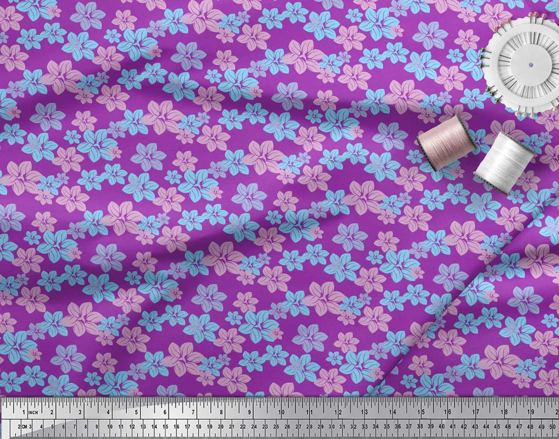 Soimoi-Cotton-Poplin-Fabric-Artistic-Floral-Printed-Craft-Fabric-K6m thumbnail 4