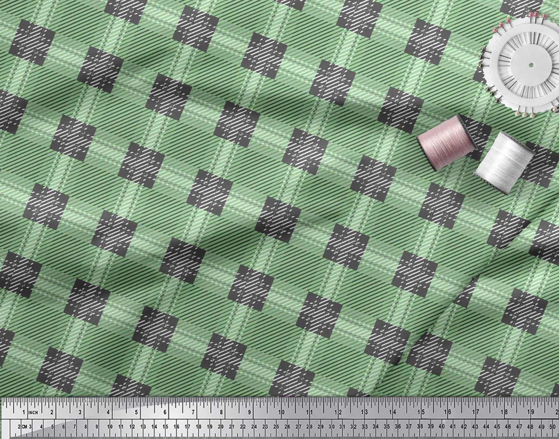 Soimoi-Cotton-Poplin-Fabric-Gingham-Check-Print-Fabric-by-metre-jA2 thumbnail 4