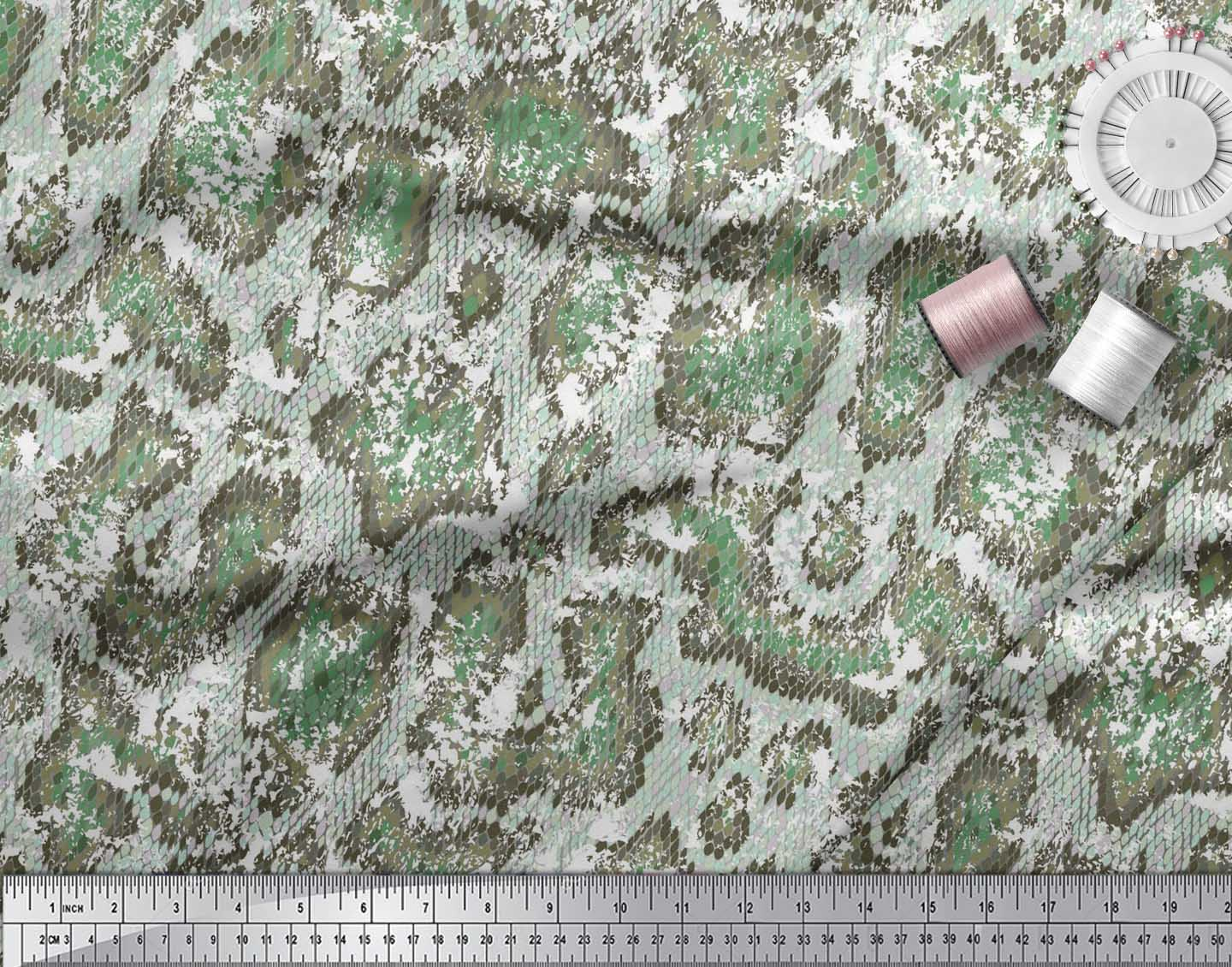 Soimoi-Cotton-Poplin-Fabric-Snake-Animal-Skin-Printed-Craft-Fabric-aHu thumbnail 3
