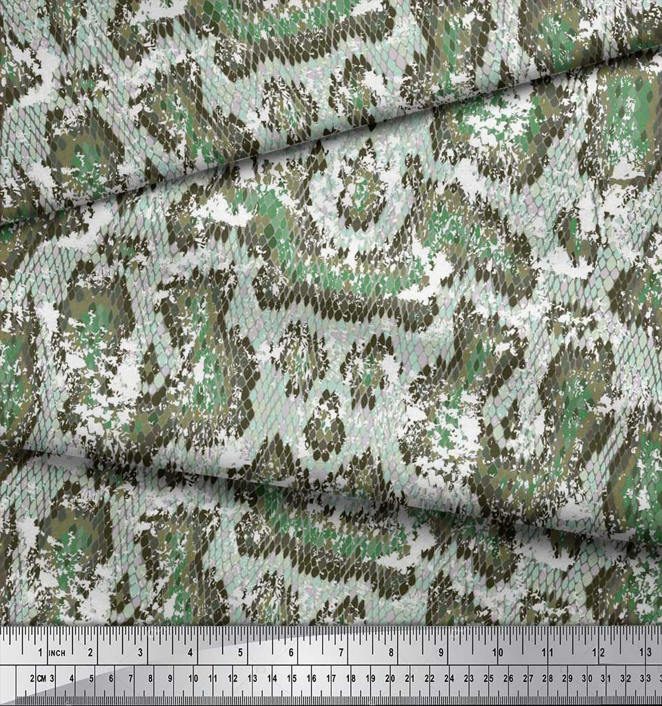 Soimoi-Cotton-Poplin-Fabric-Snake-Animal-Skin-Printed-Craft-Fabric-aHu thumbnail 4