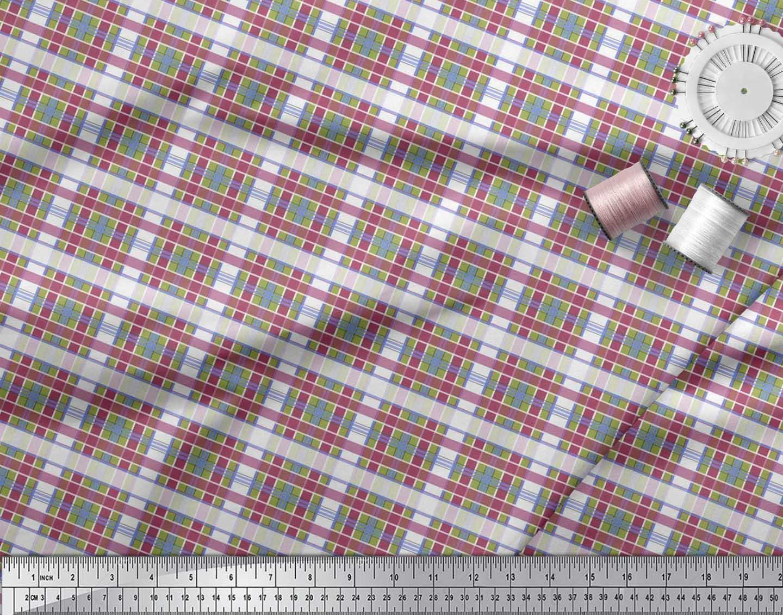 Soimoi-Cotton-Poplin-Fabric-Check-Check-Printed-Fabric-1-metre-42-P9Y thumbnail 4