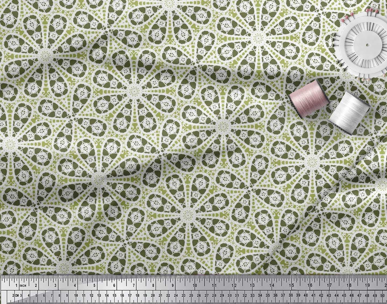 Soimoi-Cotton-Poplin-Fabric-Floral-Block-Printed-Craft-Fabric-by-Vuk thumbnail 4