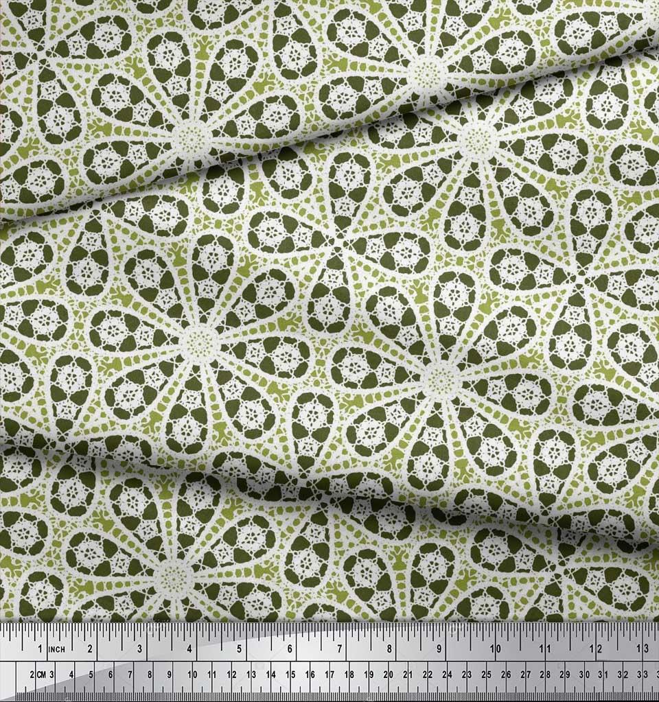 Soimoi-Cotton-Poplin-Fabric-Floral-Block-Printed-Craft-Fabric-by-Vuk thumbnail 3