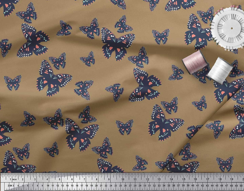 Soimoi-Cotton-Poplin-Fabric-Butterflies-Butterfly-Print-Fabric-by-Esx thumbnail 4
