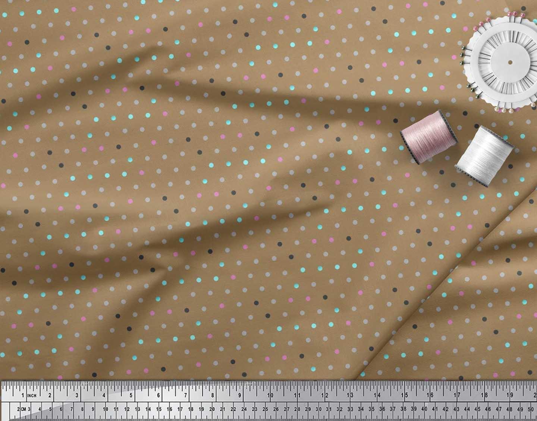 Soimoi-Cotton-Poplin-Fabric-Polka-Dots-Print-Fabric-by-the-metre-jQI thumbnail 3