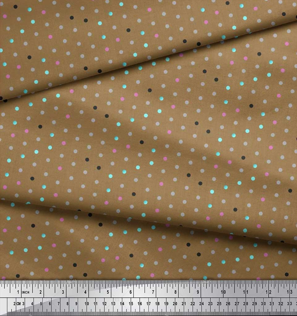 Soimoi-Cotton-Poplin-Fabric-Polka-Dots-Print-Fabric-by-the-metre-jQI thumbnail 4