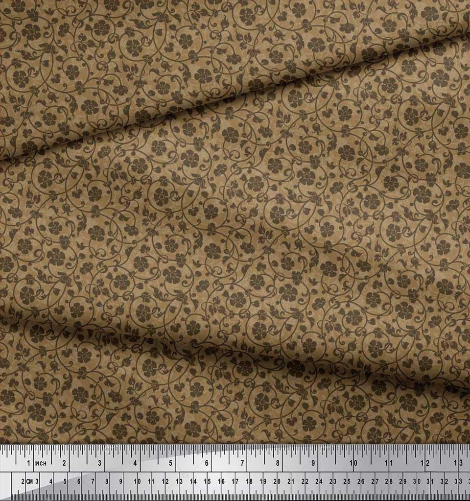 Soimoi-Cotton-Poplin-Fabric-Artistic-Floral-Print-Sewing-Fabric-nW8 thumbnail 3