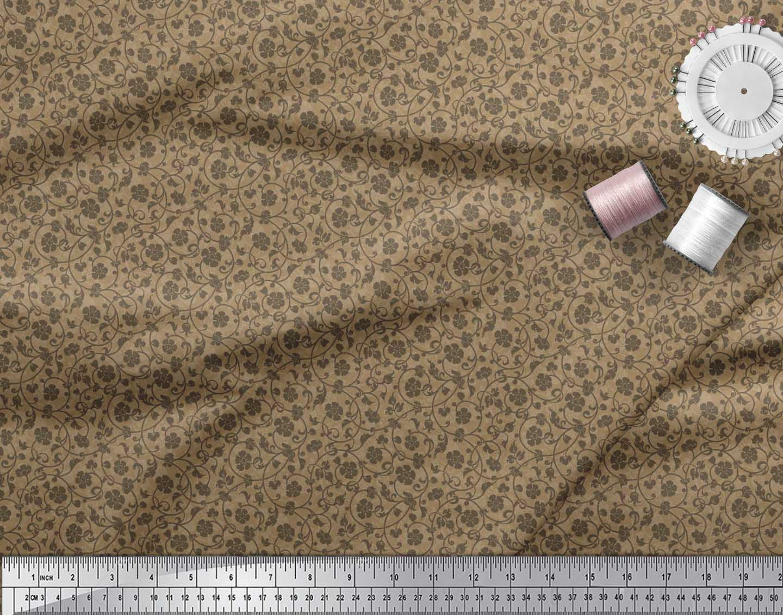 Soimoi-Cotton-Poplin-Fabric-Artistic-Floral-Print-Sewing-Fabric-nW8 thumbnail 4