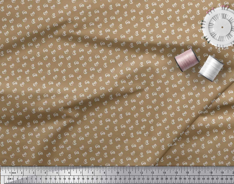 Soimoi-Cotton-Poplin-Fabric-Anchor-Hook-Nautical-Printed-Craft-Fabric-Glm thumbnail 4
