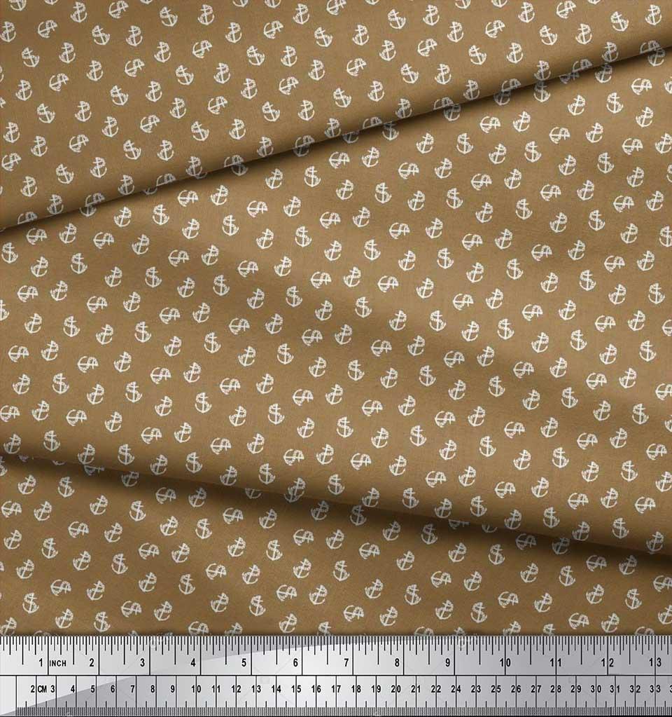 Soimoi-Cotton-Poplin-Fabric-Anchor-Hook-Nautical-Printed-Craft-Fabric-Glm thumbnail 3