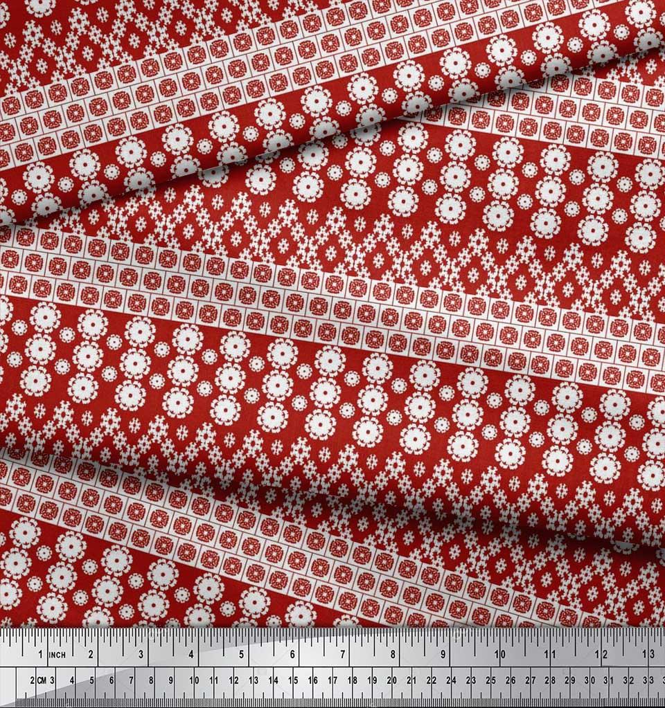 Soimoi-Cotton-Poplin-Fabric-Artistic-Floral-Print-Sewing-Fabric-VWm thumbnail 3