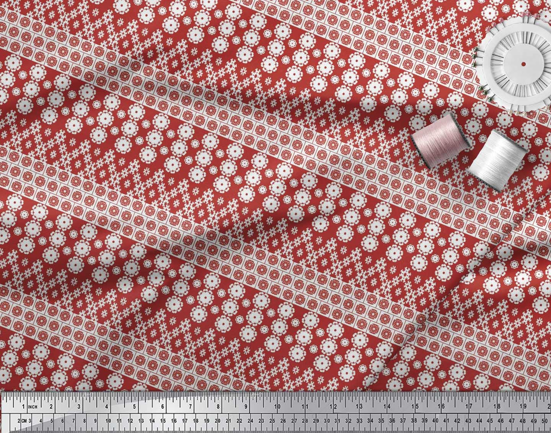 Soimoi-Cotton-Poplin-Fabric-Artistic-Floral-Print-Sewing-Fabric-VWm thumbnail 4