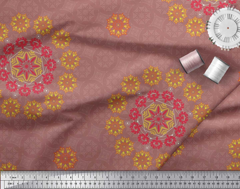 Soimoi-Fabric-Damask-amp-Mandala-Decorative-Print-Sewing-Fabric-BTY-DC-510E thumbnail 21
