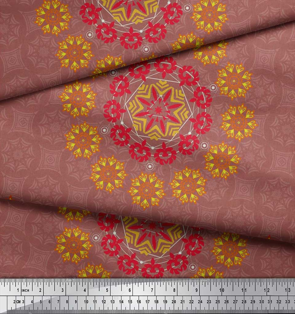 Soimoi-Fabric-Damask-amp-Mandala-Decorative-Print-Sewing-Fabric-BTY-DC-510E thumbnail 22