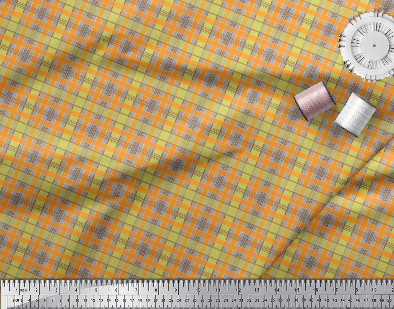 Soimoi-Cotton-Poplin-Fabric-Check-Check-Print-Sewing-Fabric-metre-ORM thumbnail 4