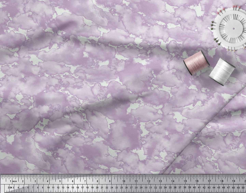 Soimoi-Cotton-Poplin-Fabric-Cloud-Nature-Print-Fabric-by-the-metre-XDb thumbnail 4