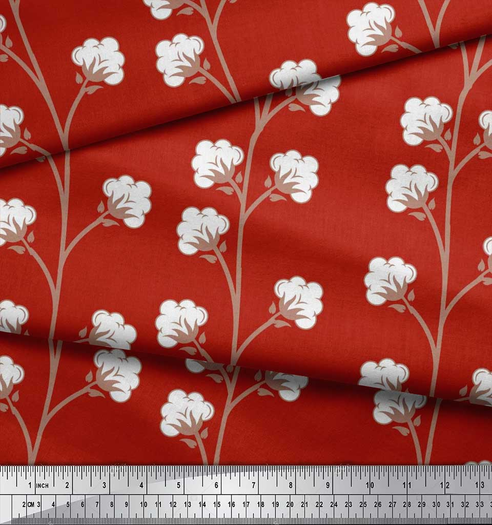 Soimoi-Cotton-Poplin-Fabric-Cotton-Ball-Floral-Fabric-Prints-By-0x3 thumbnail 3