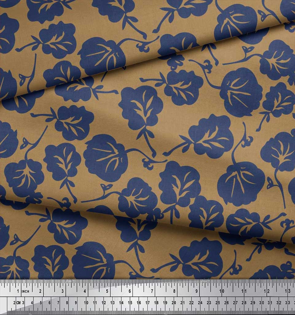 Soimoi-Cotton-Poplin-Fabric-Artistic-Floral-Decor-Fabric-Printed-xcw thumbnail 3