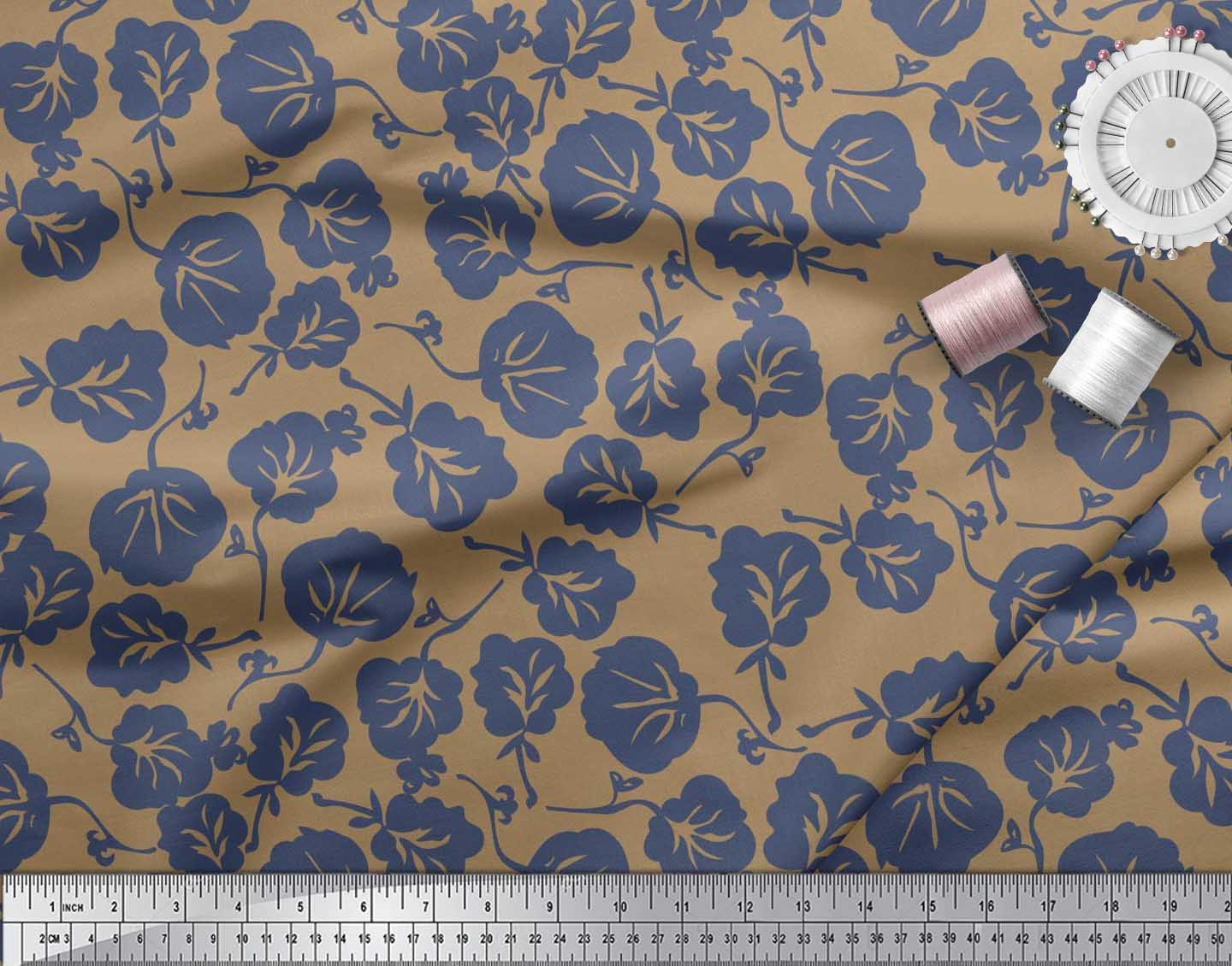 Soimoi-Cotton-Poplin-Fabric-Artistic-Floral-Decor-Fabric-Printed-xcw thumbnail 4