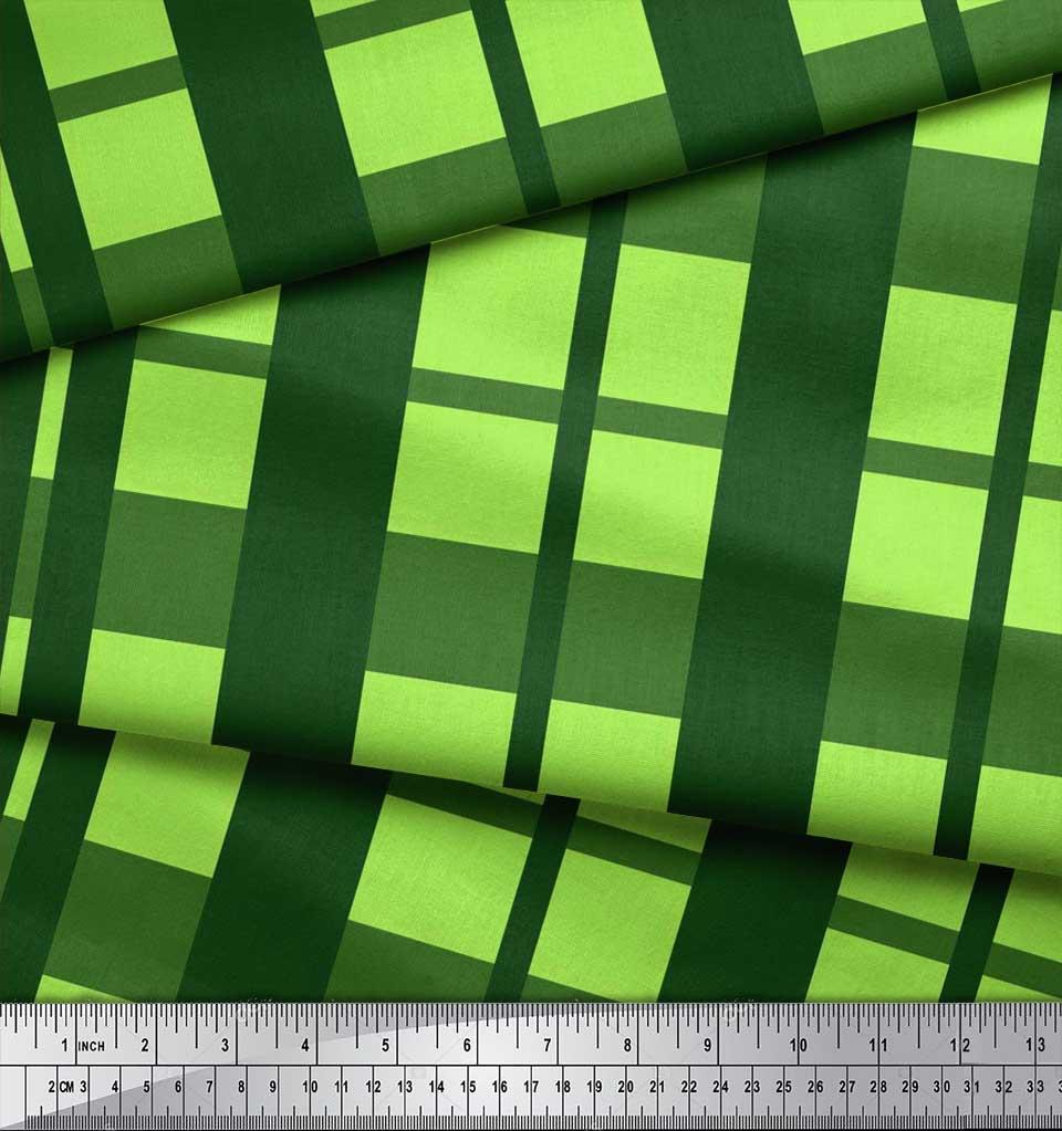 Soimoi-Cotton-Poplin-Fabric-Check-Check-Print-Fabric-by-metre-42-d7C thumbnail 3