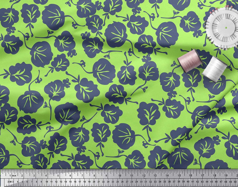 Soimoi-Cotton-Poplin-Fabric-Artistic-Floral-Decor-Fabric-Printed-gqh thumbnail 3
