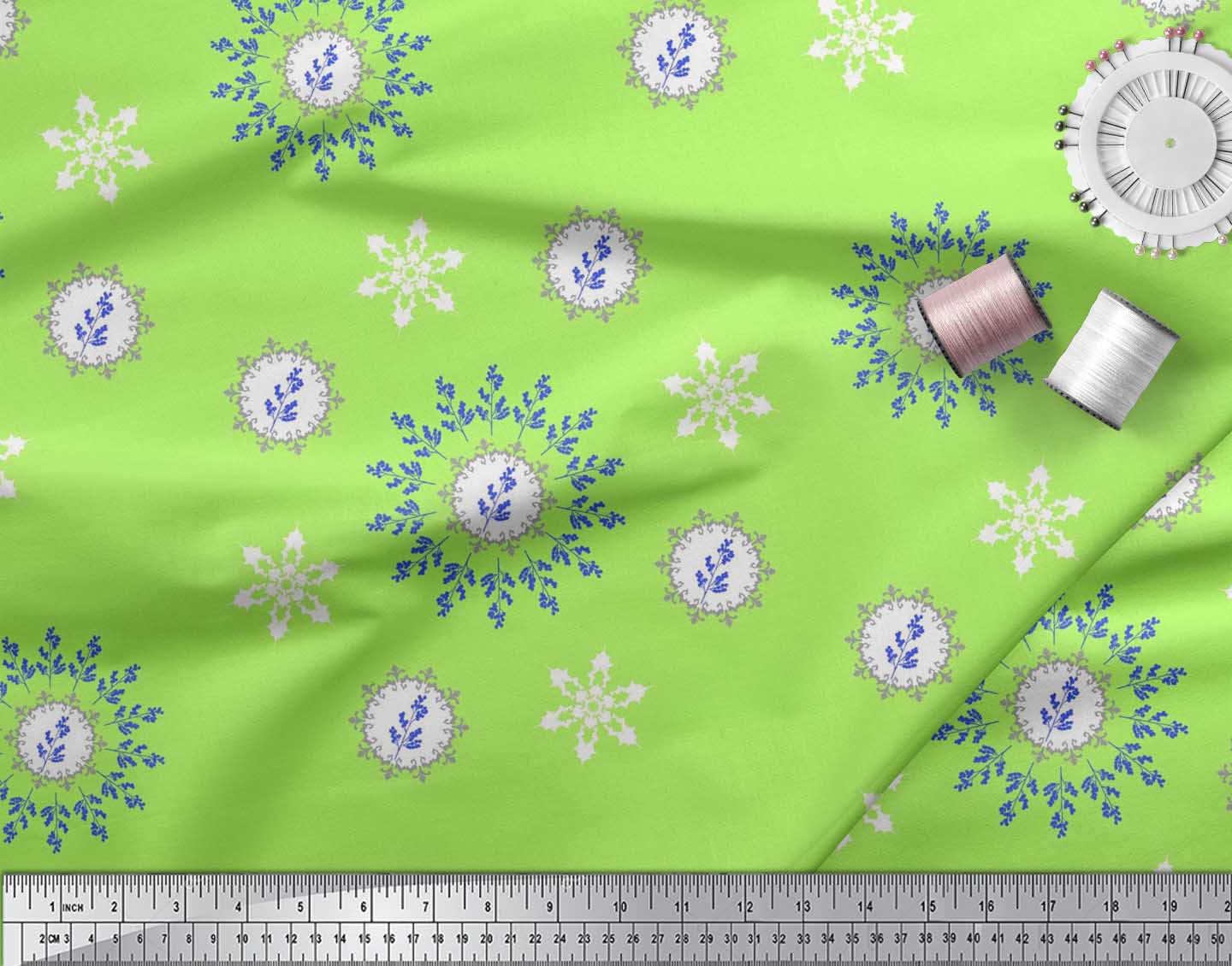 Soimoi-Fabric-Berries-amp-Damask-Decorative-Printed-Craft-Fabric-bty-DC-513A thumbnail 21