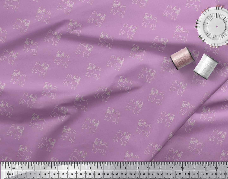 Soimoi-Cotton-Poplin-Fabric-Pug-Dog-Print-Fabric-by-the-metre-42-wXn thumbnail 4