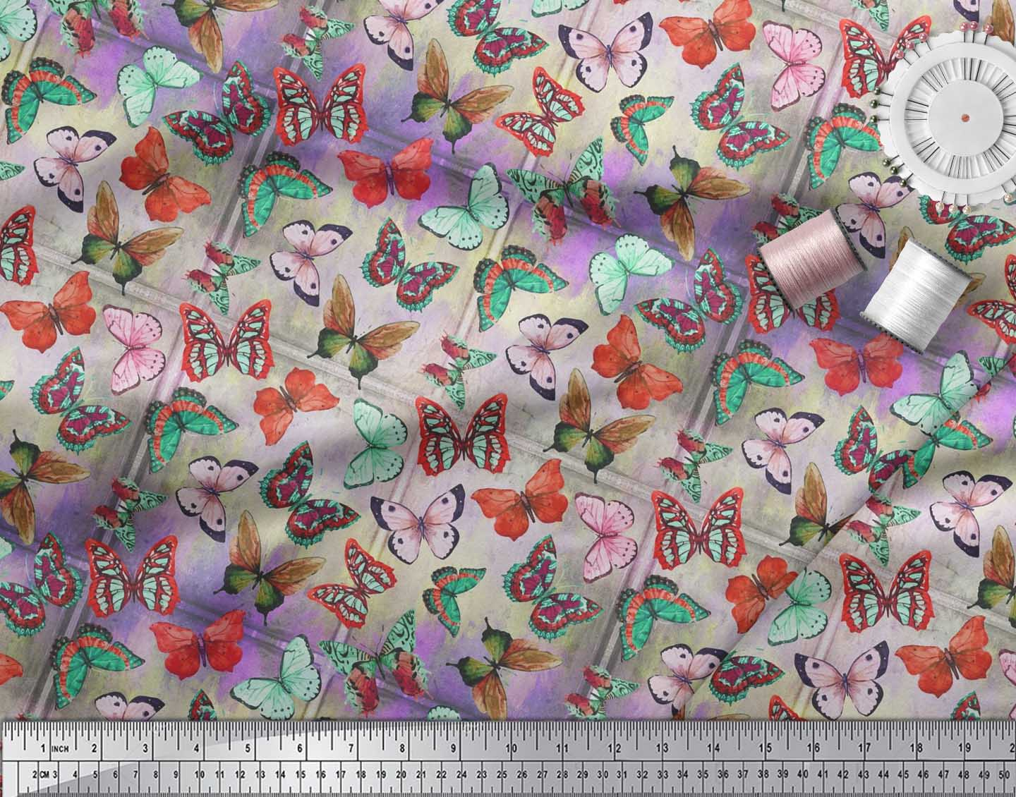 Soimoi-Cotton-Poplin-Fabric-Colorful-Butterfly-Printed-Fabric-1-Guo thumbnail 3