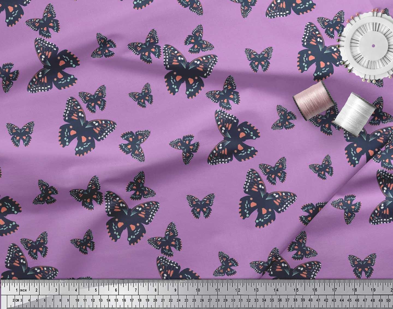 Soimoi-Cotton-Poplin-Fabric-Butterflies-Butterfly-Print-Fabric-by-Q2r thumbnail 3