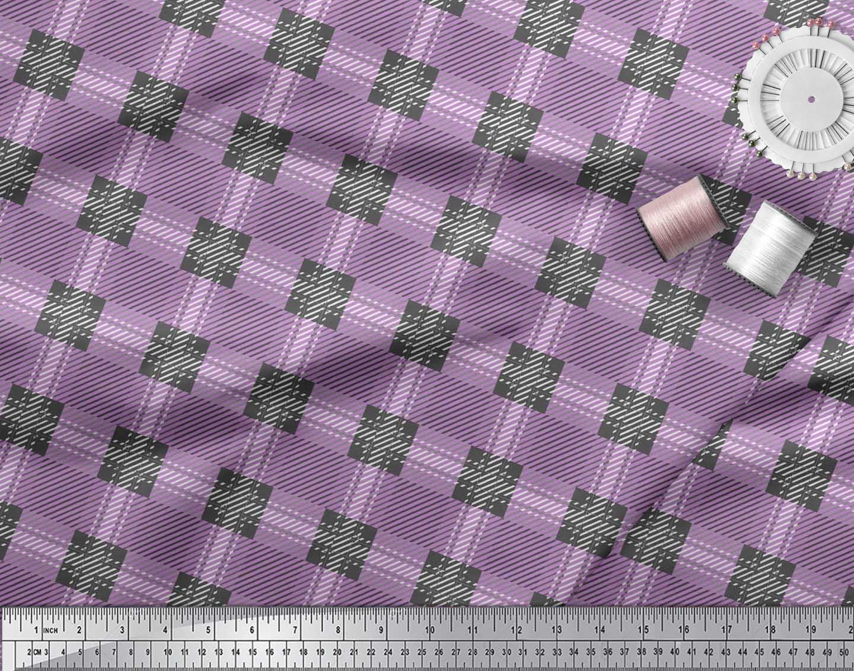 Soimoi-Cotton-Poplin-Fabric-Gingham-Check-Printed-Craft-Fabric-by-jhX thumbnail 3