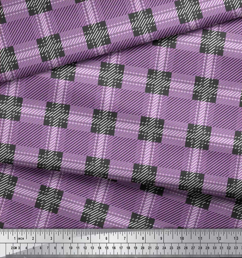 Soimoi-Cotton-Poplin-Fabric-Gingham-Check-Printed-Craft-Fabric-by-jhX thumbnail 4