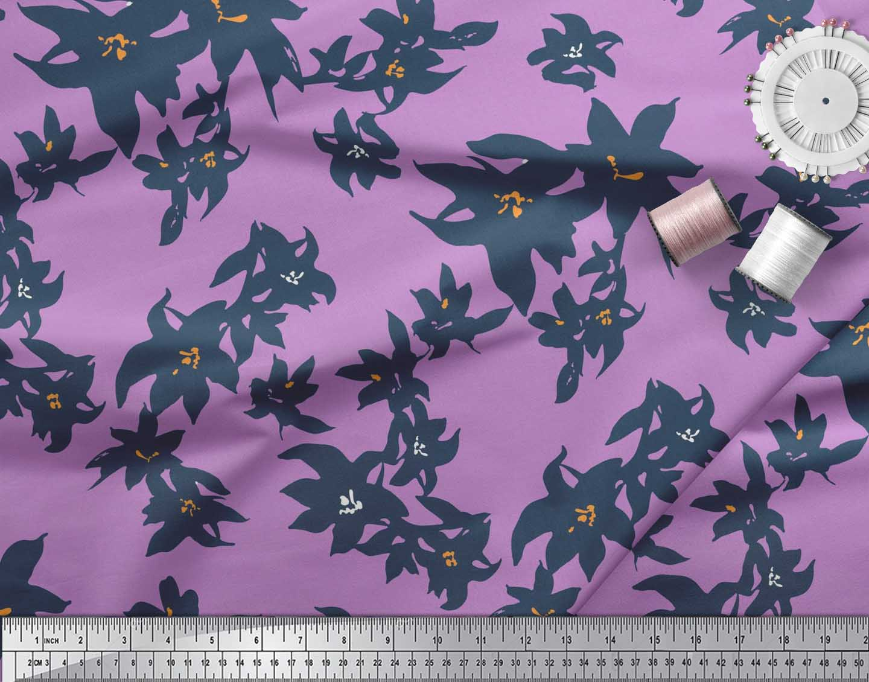 Soimoi-Cotton-Poplin-Fabric-Artistic-Floral-Printed-Craft-Fabric-5HN thumbnail 3