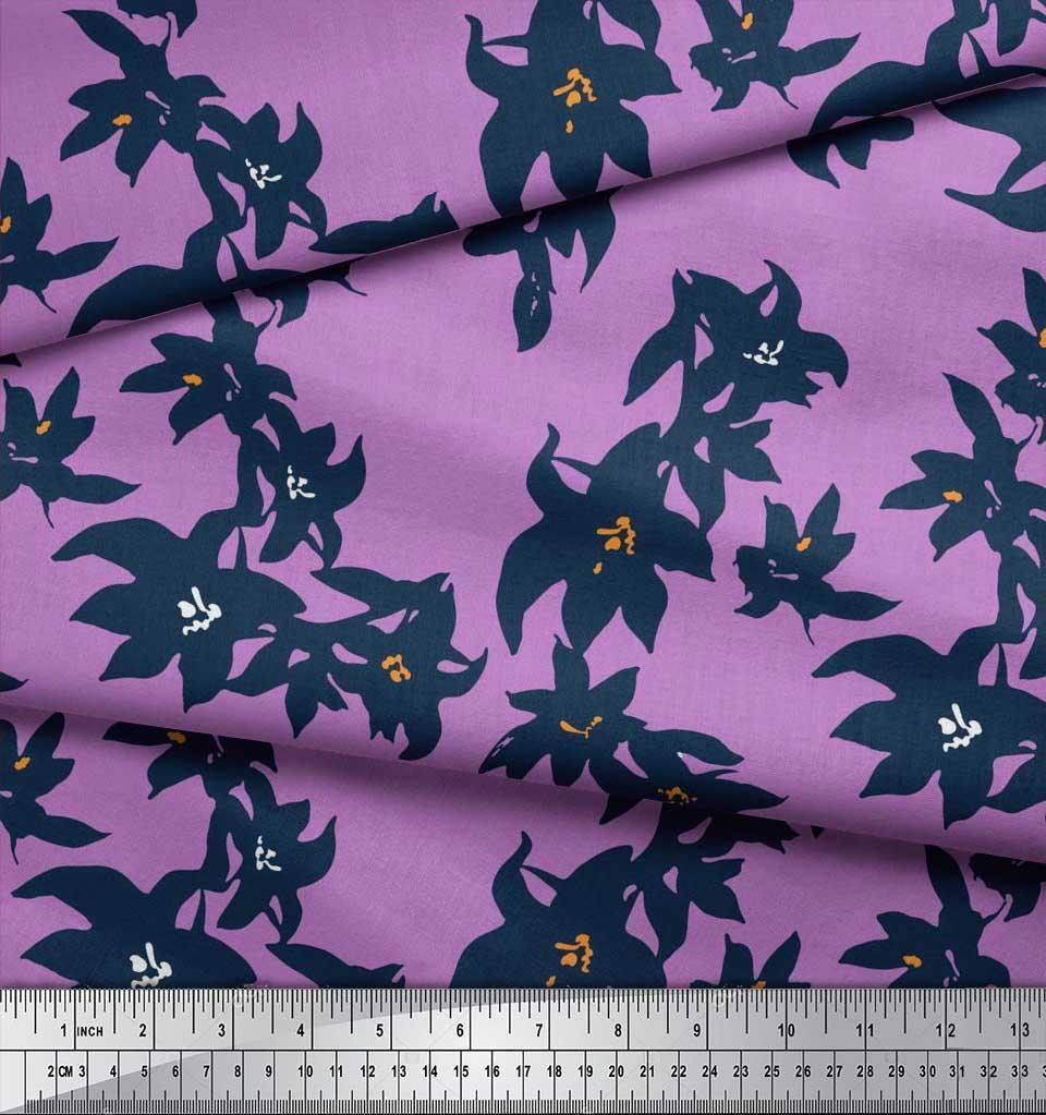 Soimoi-Cotton-Poplin-Fabric-Artistic-Floral-Printed-Craft-Fabric-5HN thumbnail 4