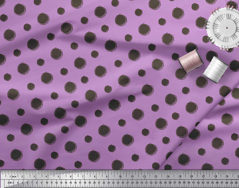 Soimoi-Cotton-Poplin-Fabric-Dots-Dots-Print-Fabric-by-the-metre-jBZ thumbnail 4