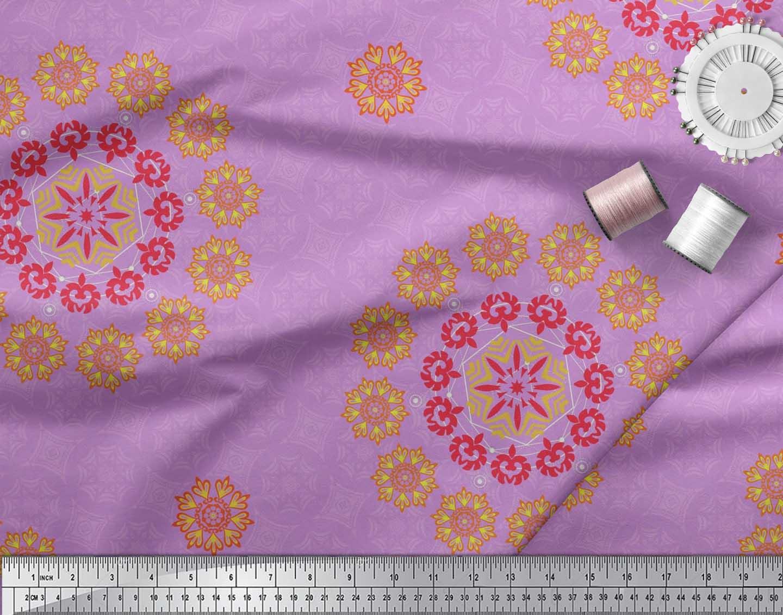 Soimoi-Fabric-Damask-amp-Mandala-Decorative-Print-Sewing-Fabric-BTY-DC-510E thumbnail 12