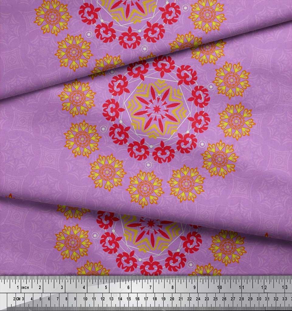 Soimoi-Fabric-Damask-amp-Mandala-Decorative-Print-Sewing-Fabric-BTY-DC-510E thumbnail 13
