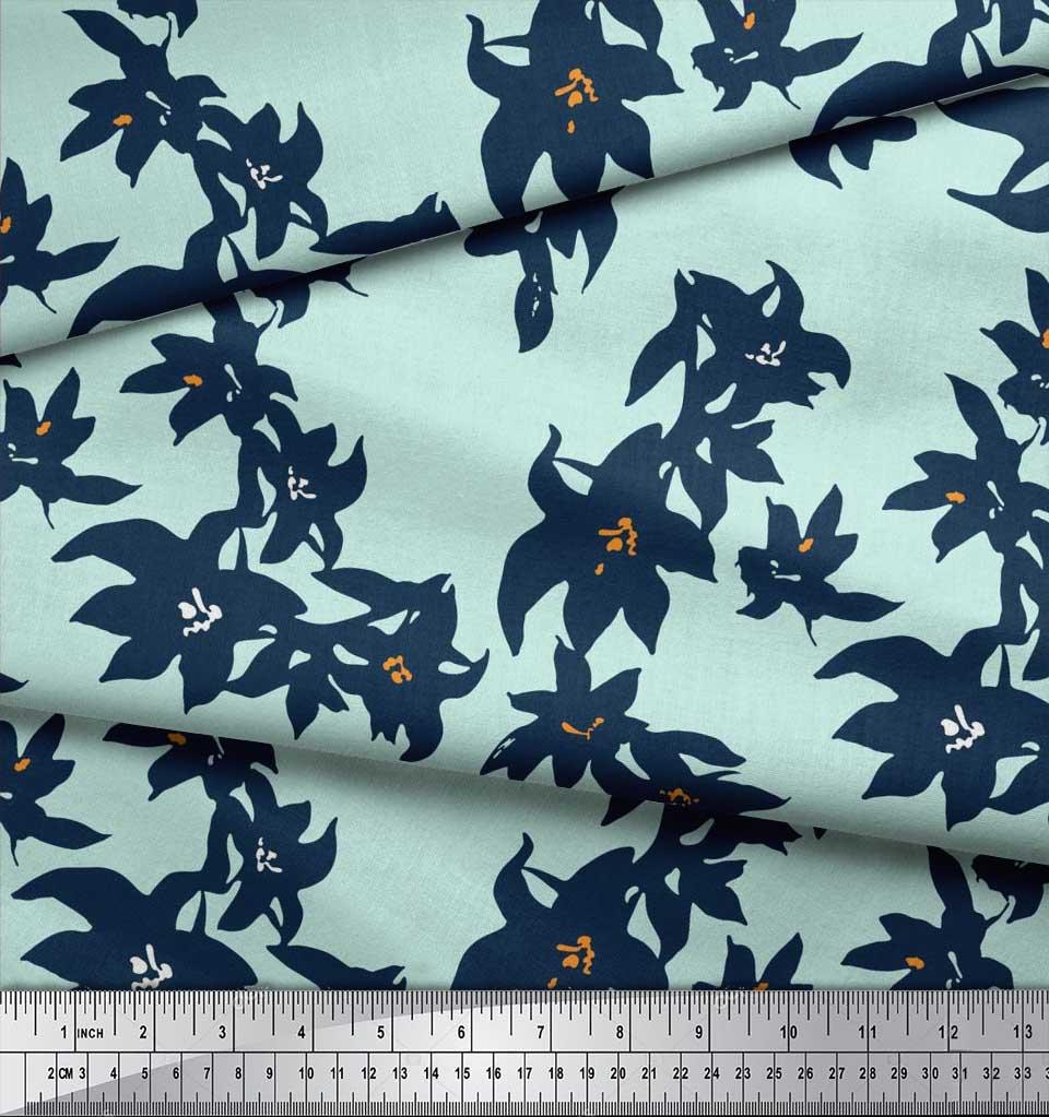 Soimoi-Cotton-Poplin-Fabric-Artistic-Floral-Fabric-Prints-By-metre-uFs thumbnail 3