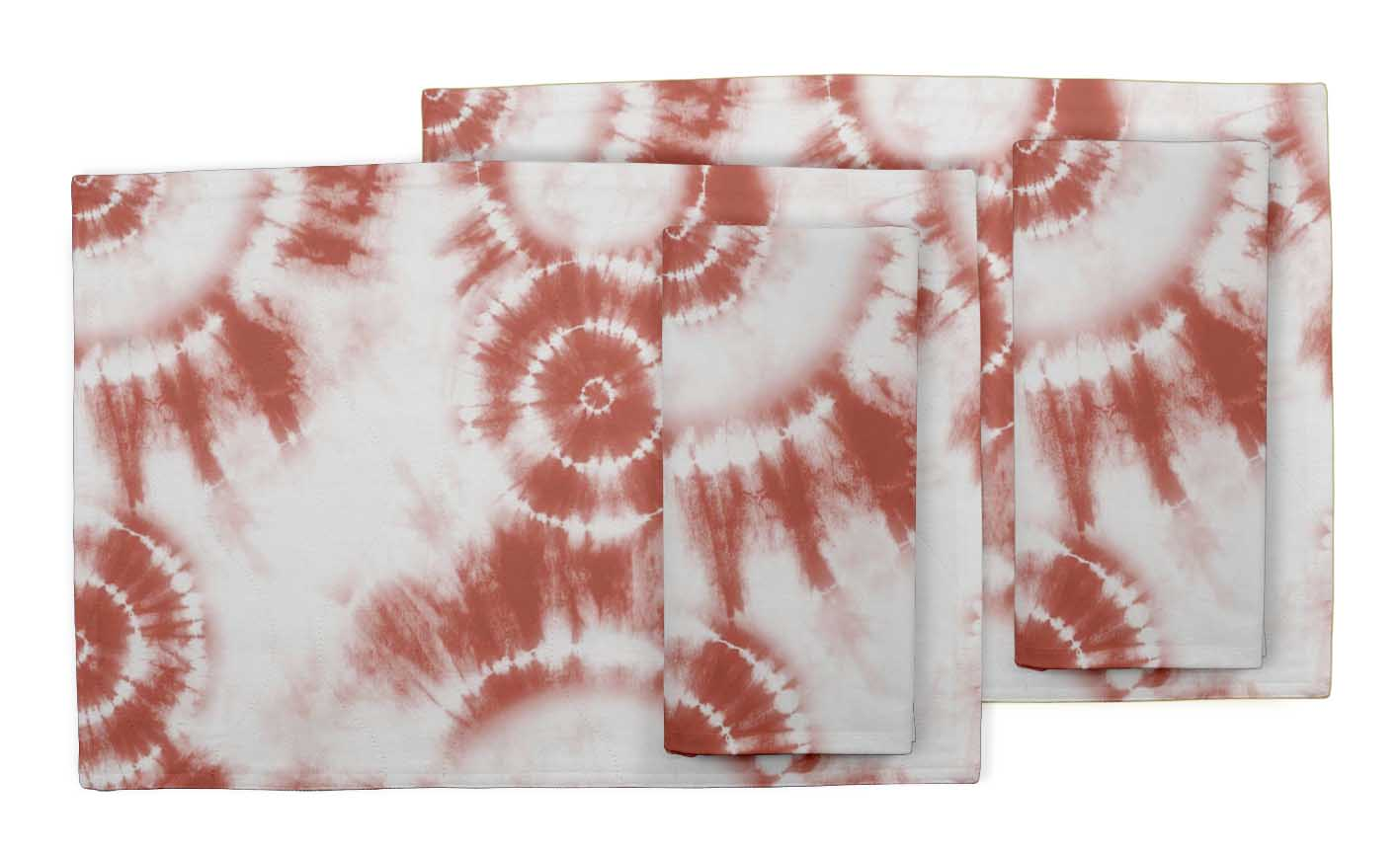 Details about  /S4Sassy Bandhani Tie-Dye Room Reversible Tablemats With Napkins set-TD-42D