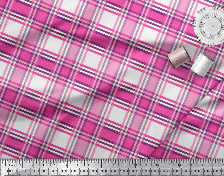 Soimoi-Cotton-Poplin-Fabric-Gingham-Check-Print-Fabric-by-the-metre-cJC thumbnail 3