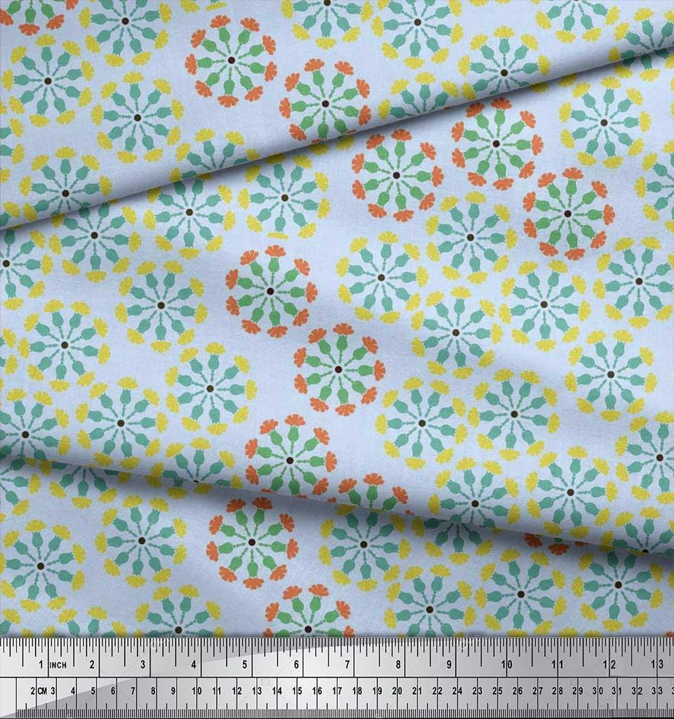 Soimoi-Cotton-Poplin-Fabric-Artistic-Floral-Print-Fabric-by-the-Ovz thumbnail 4