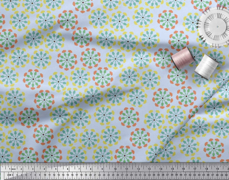 Soimoi-Cotton-Poplin-Fabric-Artistic-Floral-Print-Fabric-by-the-Ovz thumbnail 3