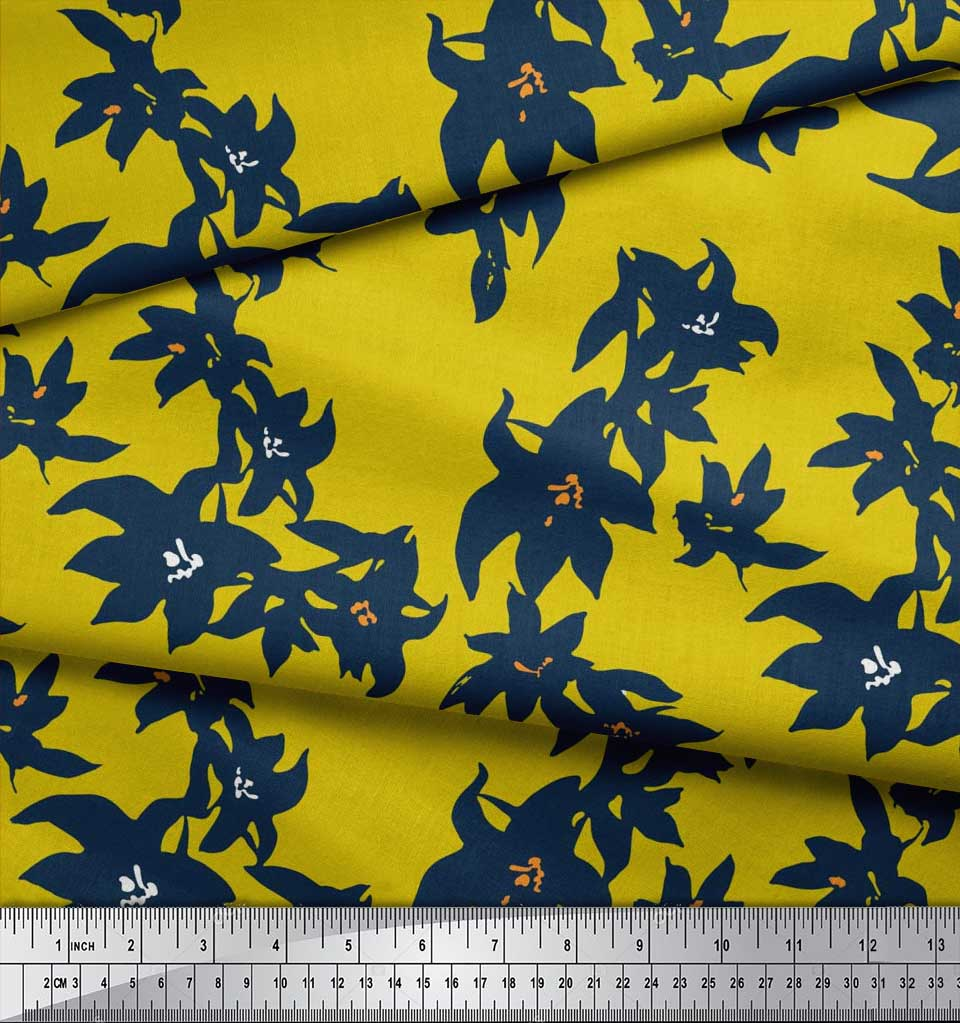 Soimoi-Cotton-Poplin-Fabric-Artistic-Floral-Printed-Craft-Fabric-15t thumbnail 4