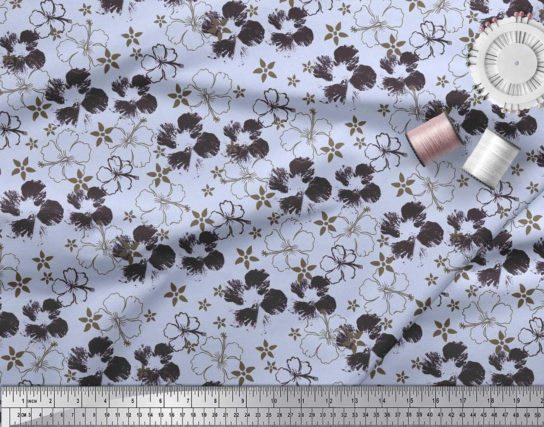 Soimoi-Cotton-Poplin-Fabric-Artistic-Floral-Fabric-Prints-By-metre-sRQ thumbnail 4