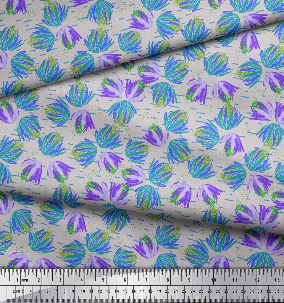 Soimoi-Cotton-Poplin-Fabric-Artistic-Floral-Print-Fabric-by-the-jGm thumbnail 3