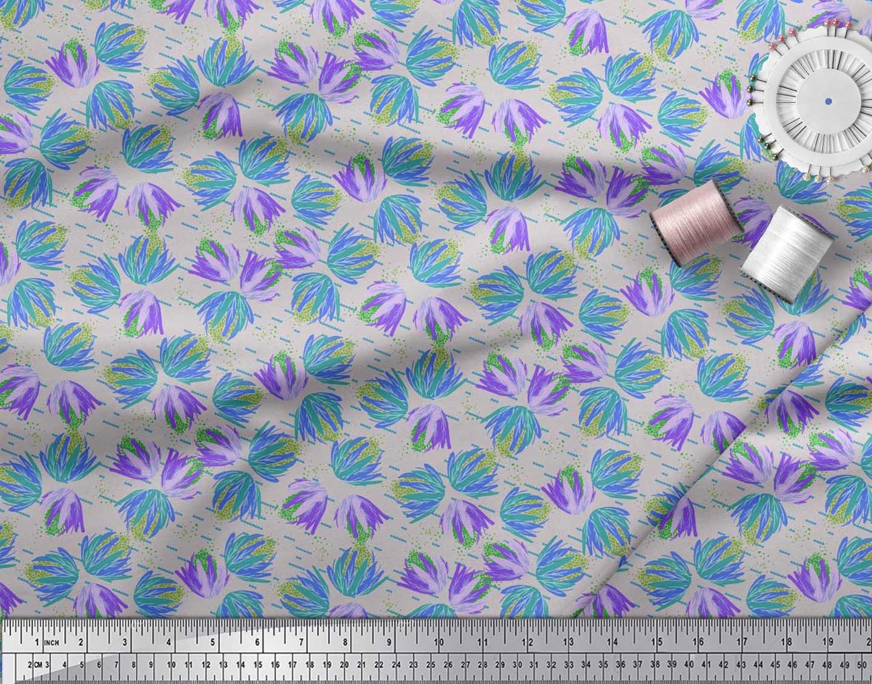 Soimoi-Cotton-Poplin-Fabric-Artistic-Floral-Print-Fabric-by-the-jGm thumbnail 4