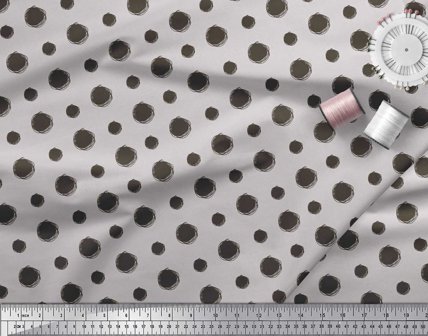 Soimoi-Cotton-Poplin-Fabric-Dots-Dots-Printed-Fabric-1-metre-42-xzp thumbnail 4