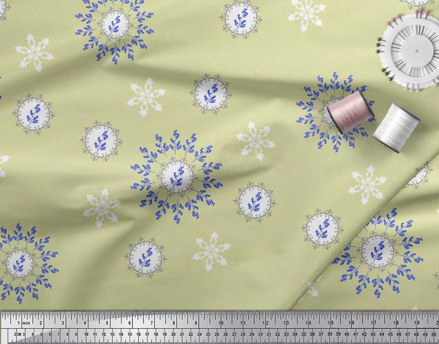 Soimoi-Fabric-Berries-amp-Damask-Decorative-Printed-Craft-Fabric-bty-DC-513A thumbnail 25