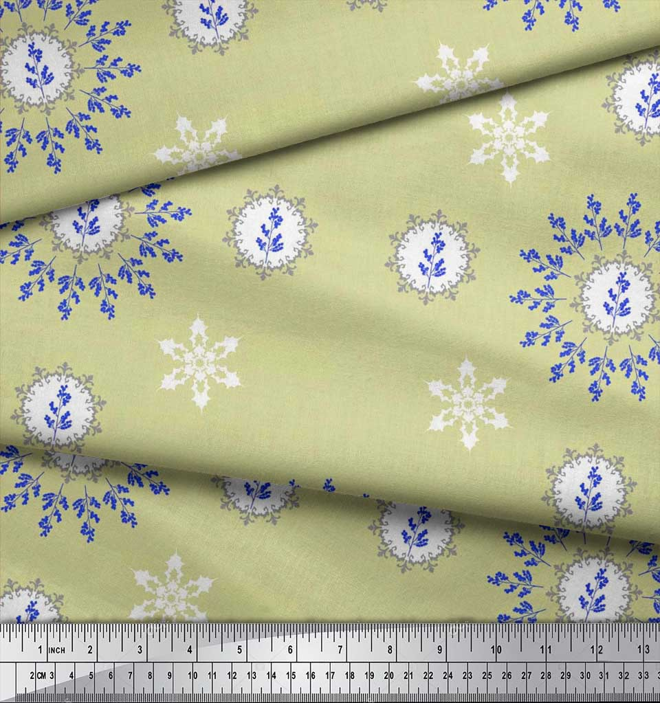 Soimoi-Fabric-Berries-amp-Damask-Decorative-Printed-Craft-Fabric-bty-DC-513A thumbnail 24